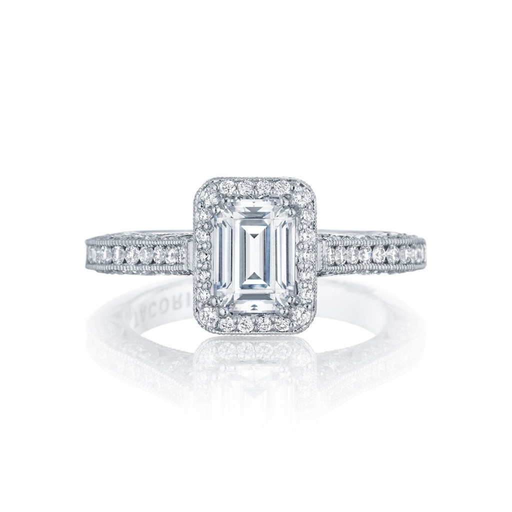 tacori engagement rings classic crescent halo ring setting. Black Bedroom Furniture Sets. Home Design Ideas