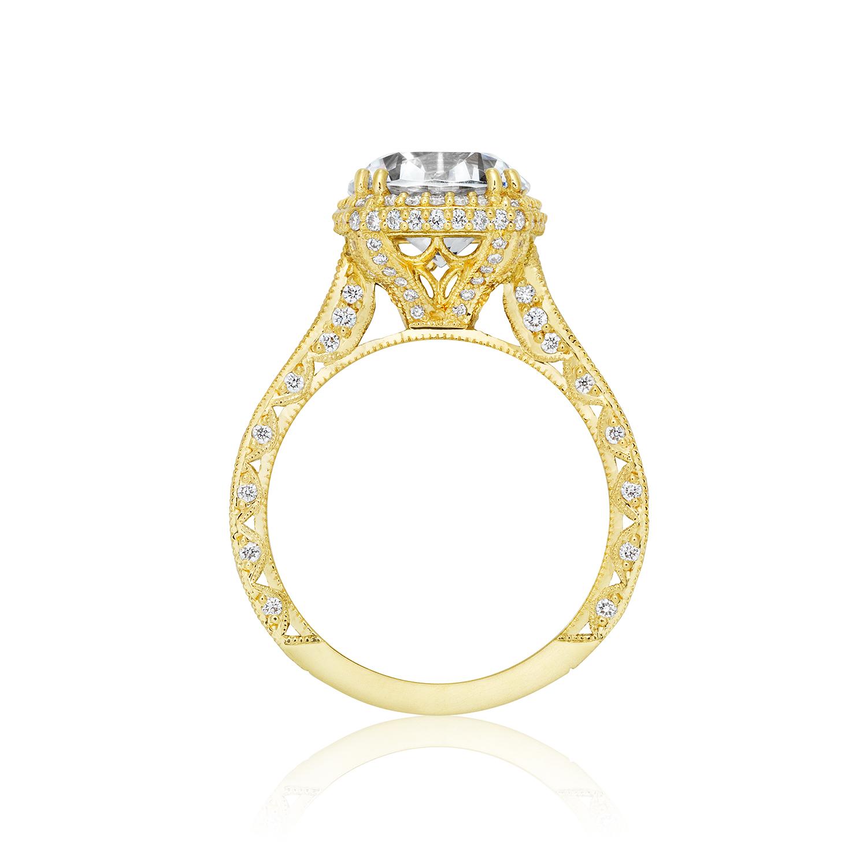tacori engagement rings gold cushion halo setting 128ctw