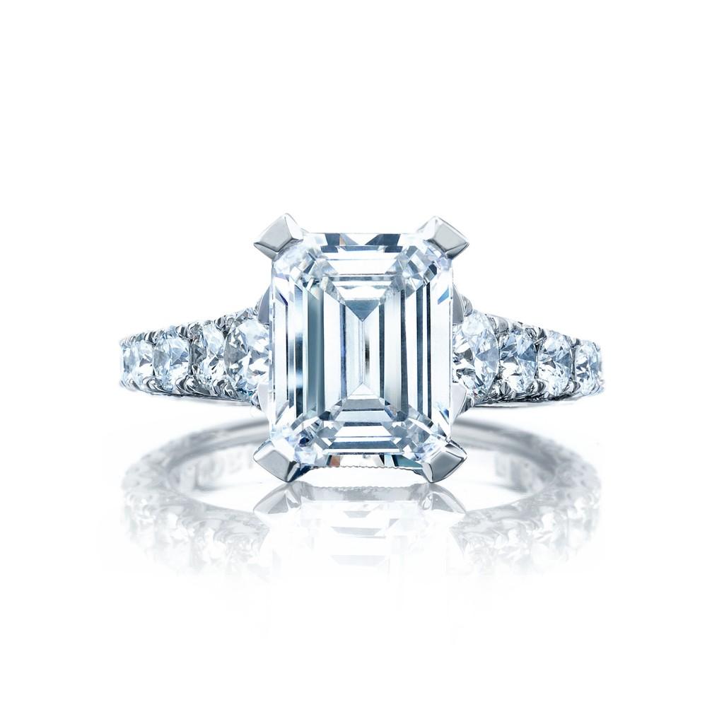 tacori engagement rings royalt solitaire emerald cut