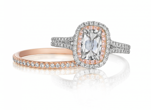Henri Daussi Engagement Rings with rose gold
