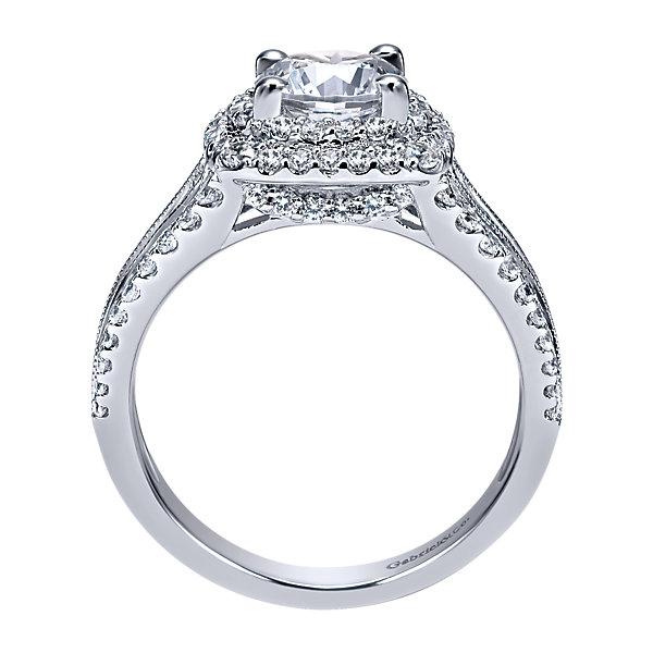 Gabriel Co Engagement Rings Double Halo 1ctw Diamonds