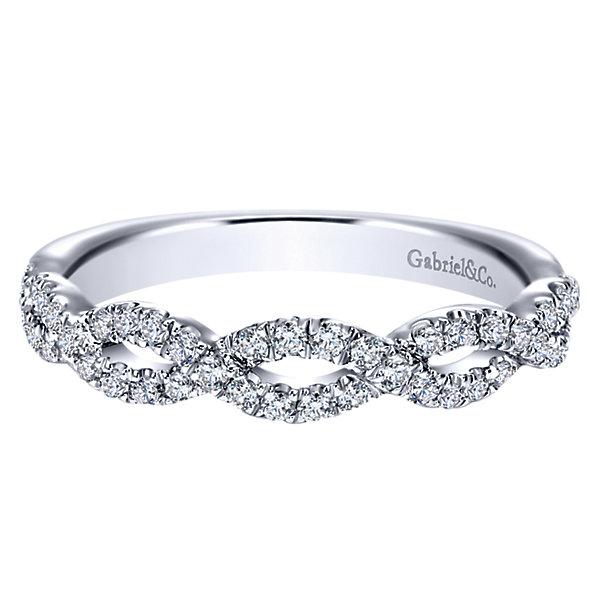 Gabriel & Co. Engagement Rings .39ctw Diamonds 14k White Gold