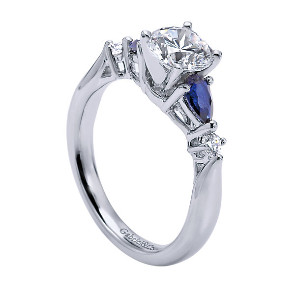 Gabriel & Co Engagement Rings Diamond & Sapphire Ring 54ctw