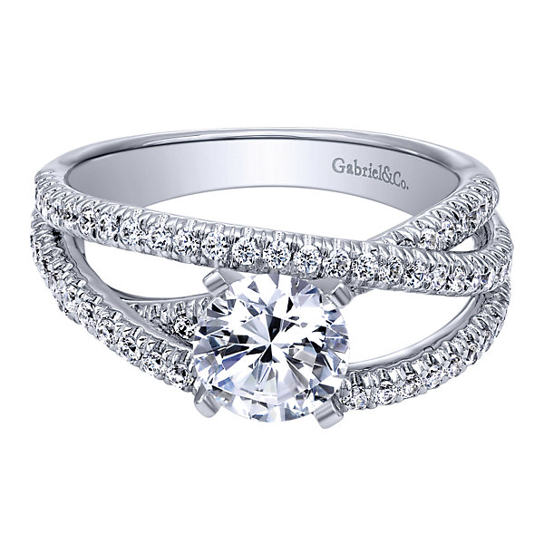 Gabriel & Co Engagement Rings Diamond Free Form 57ctw