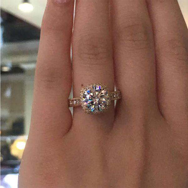 Engagement Rings Tacori: Tacori Engagement Rings Gold Cushion Halo Setting 1.28ctw