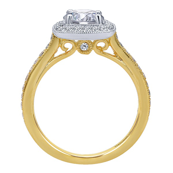 Gabriel & Co Engagement Rings Halo 47ctw Diamonds