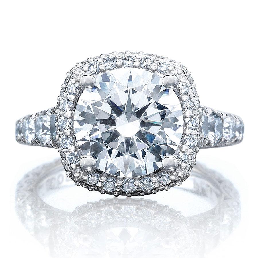 Tacori Engagement Rings Royalt Halo Setting 1 85ctw