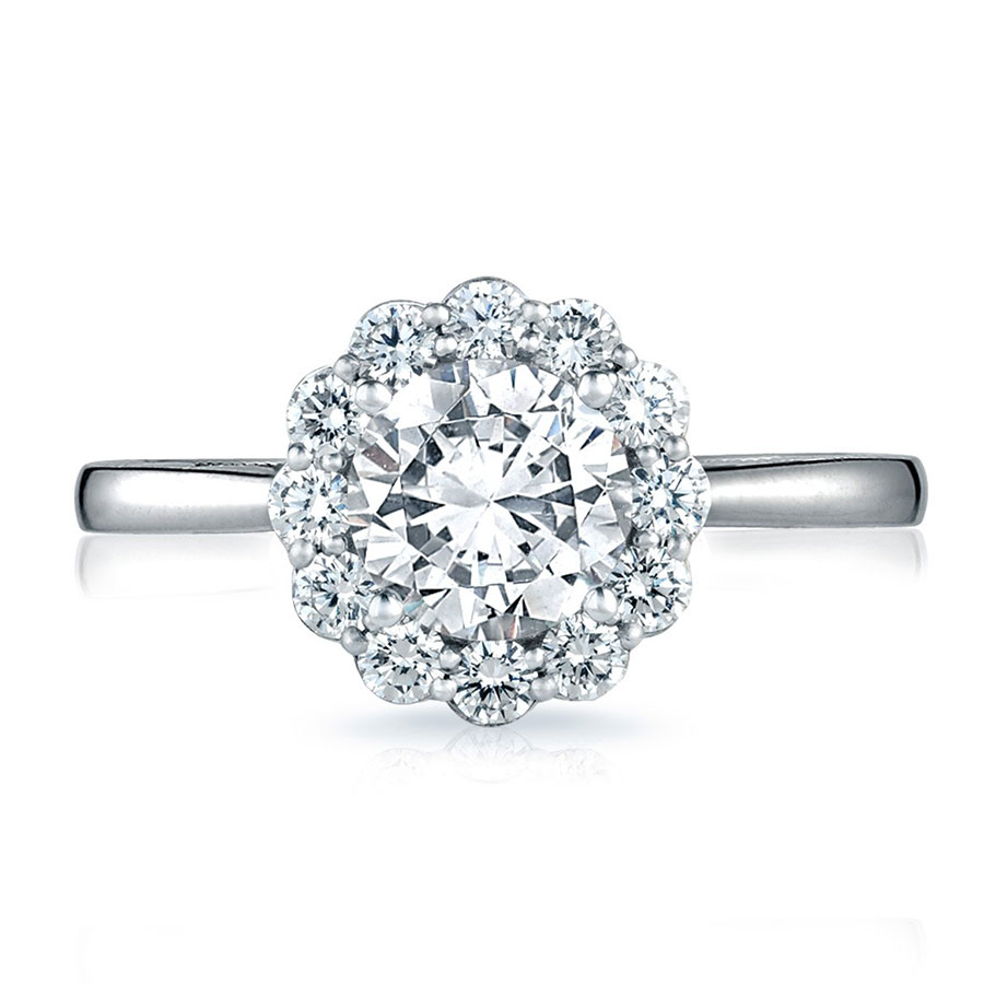 Engagement Rings Tacori: Tacori Engagement Rings Full Bloom Halo Setting .69ctw