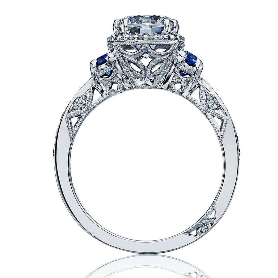 Tacori Engagement Rings Dantela Halo Amp Sapphire Setting