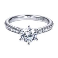Gabriel & Co. ER6687W44JJ 14k White Gold Diamond Straight Engagement Ring Setting