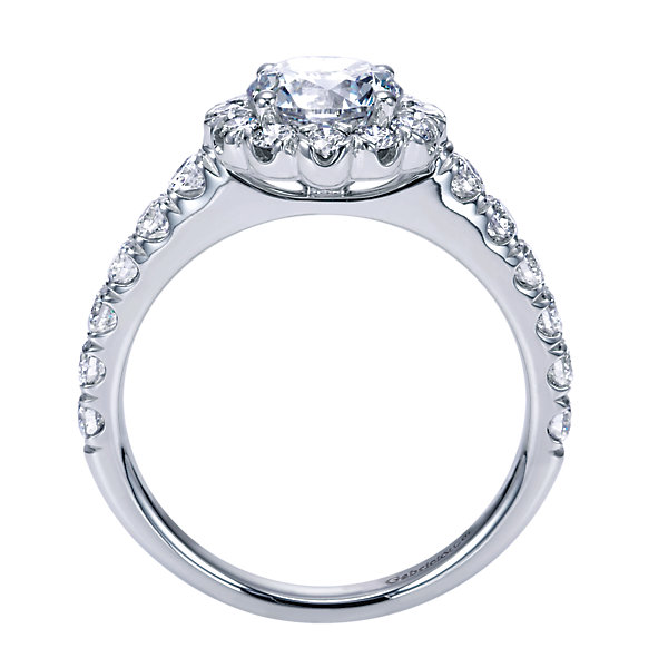 Gabriel & Co Engagement Rings Halo Engagement 85ctw Diamonds