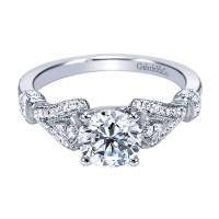 Gabriel & Co. ER7531W44JJ 14k White Gold Diamond Straight Engagement Ring Setting