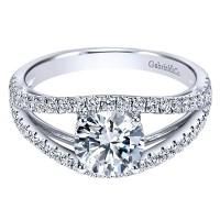Gabriel & Co. ER7726W44JJ 14k White Gold Diamond Split Shank Engagement Ring Setting