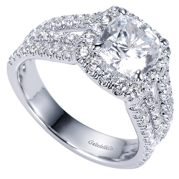 Gabriel & Co Engagement Rings Halo Engagement Ring 1 21ct