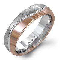 Simon G LL125 Two Tone Diamond Wedding Band