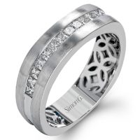 Simon G MR2635 0.68ctw Diamond Men's Wedding Band