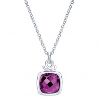 Gabriel & Co. NK3753SVJAM Sterling Silver Amethyst Necklace