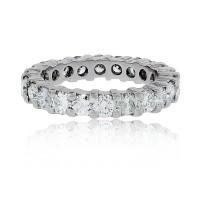 Platinum 4.15ctw Round Diamond Eternity Band