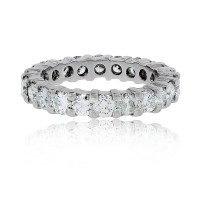 Platinum 3.05ctw Round Diamond Eternity Band