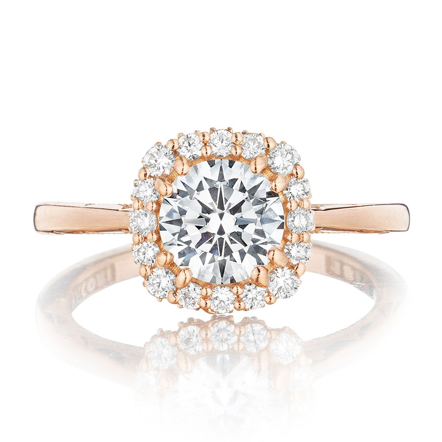 tacori engagement rings pretty in pink gold