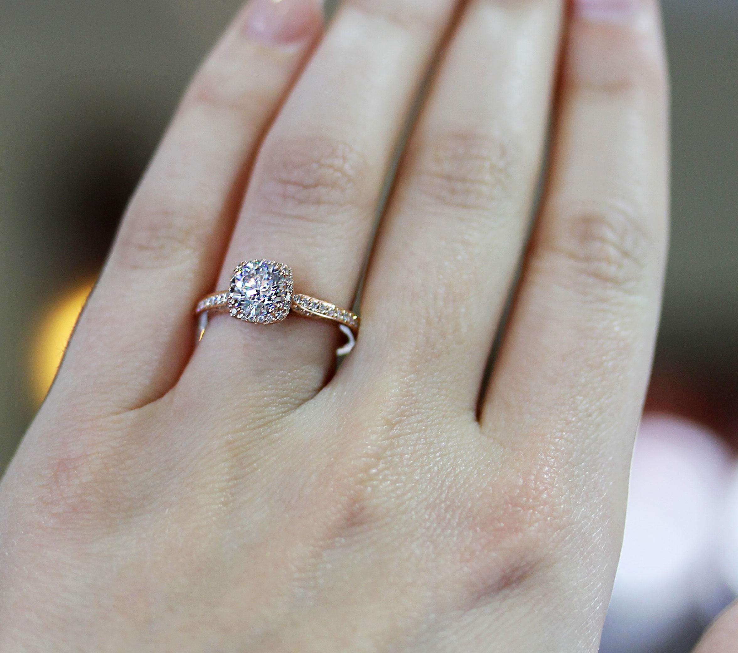 Rose Gold Engagement Rings Tacori 18k 0 25ctw