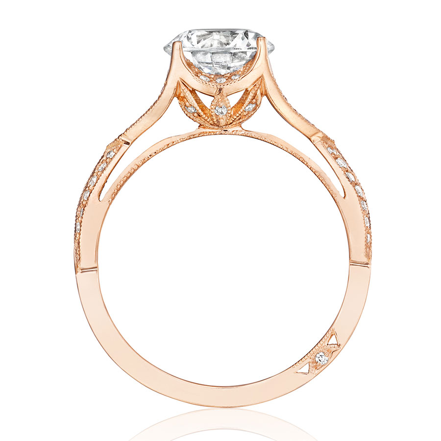 tacori engagement rings pretty in pink twisted shank ring