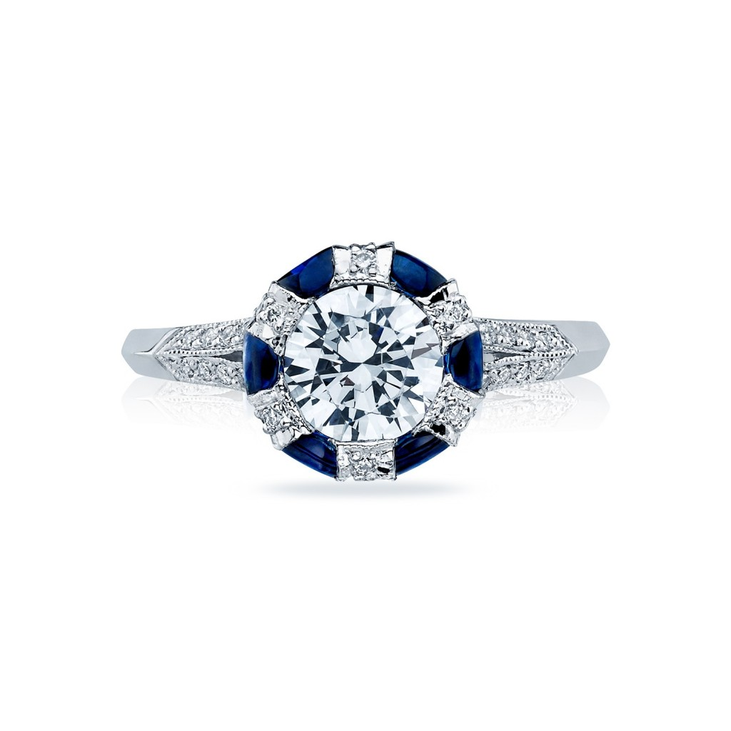 tacori engagement rings sapphire adorned setting 0 75ctw