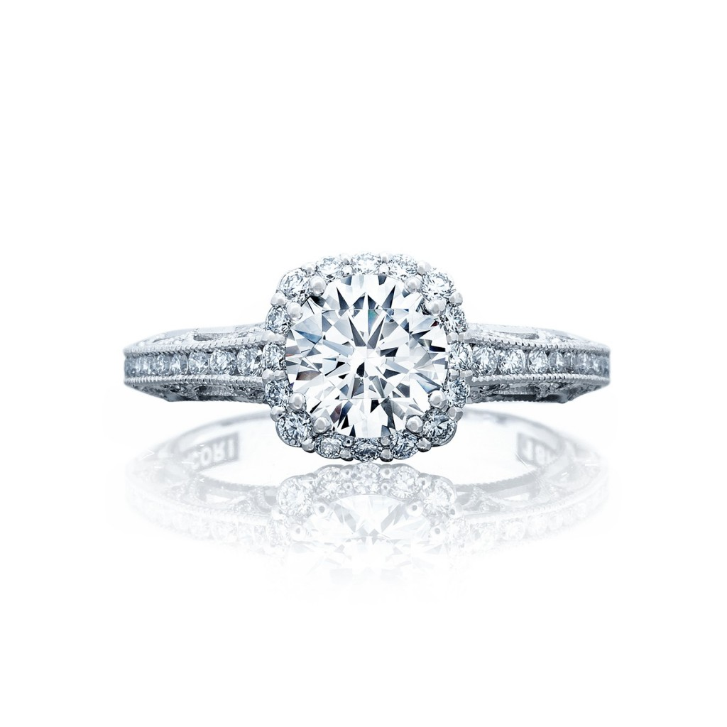 tacori engagement rings reverse crescent setting 18k