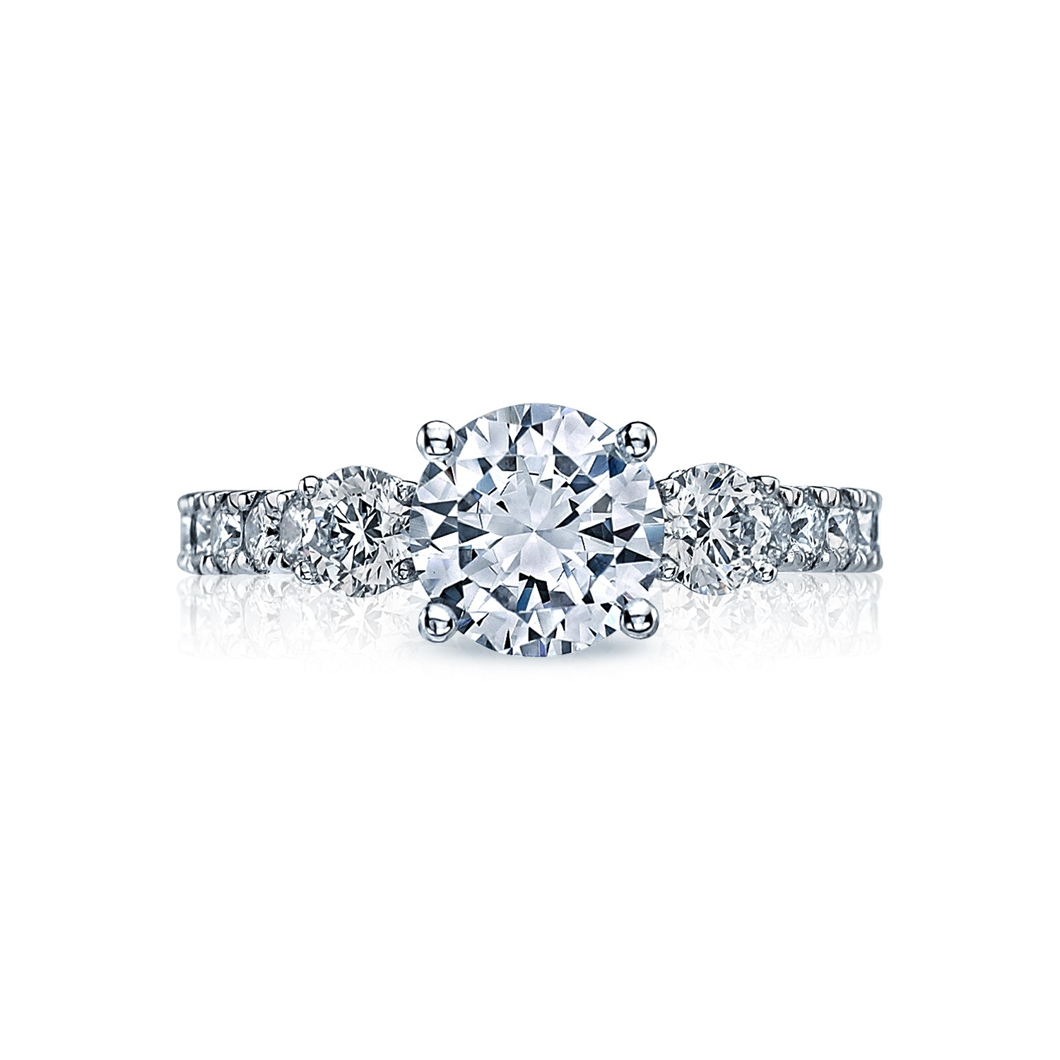Cleaning Rings: Tacori Engagement Rings Clean Crescent Setting