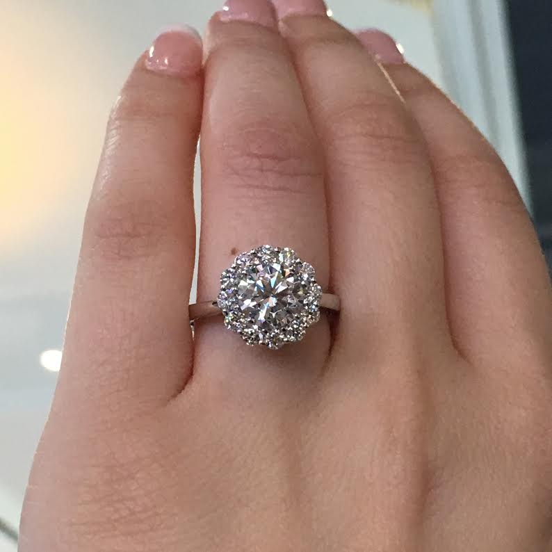 Image Result For Wedding Band For Halo Engagement Ring