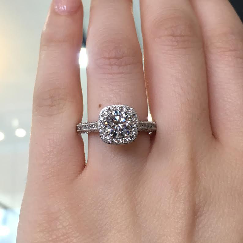 tacori engagement rings classic crescent setting 079ctw