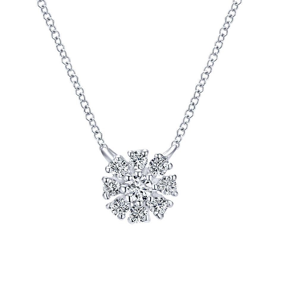 gabriel co engagement rings 14k floral necklace
