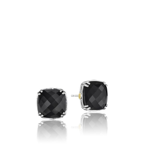 a179bdcb2c59a Tacori Engagement Rings Classic Rock Bold Cushion Cut Onyx Studs