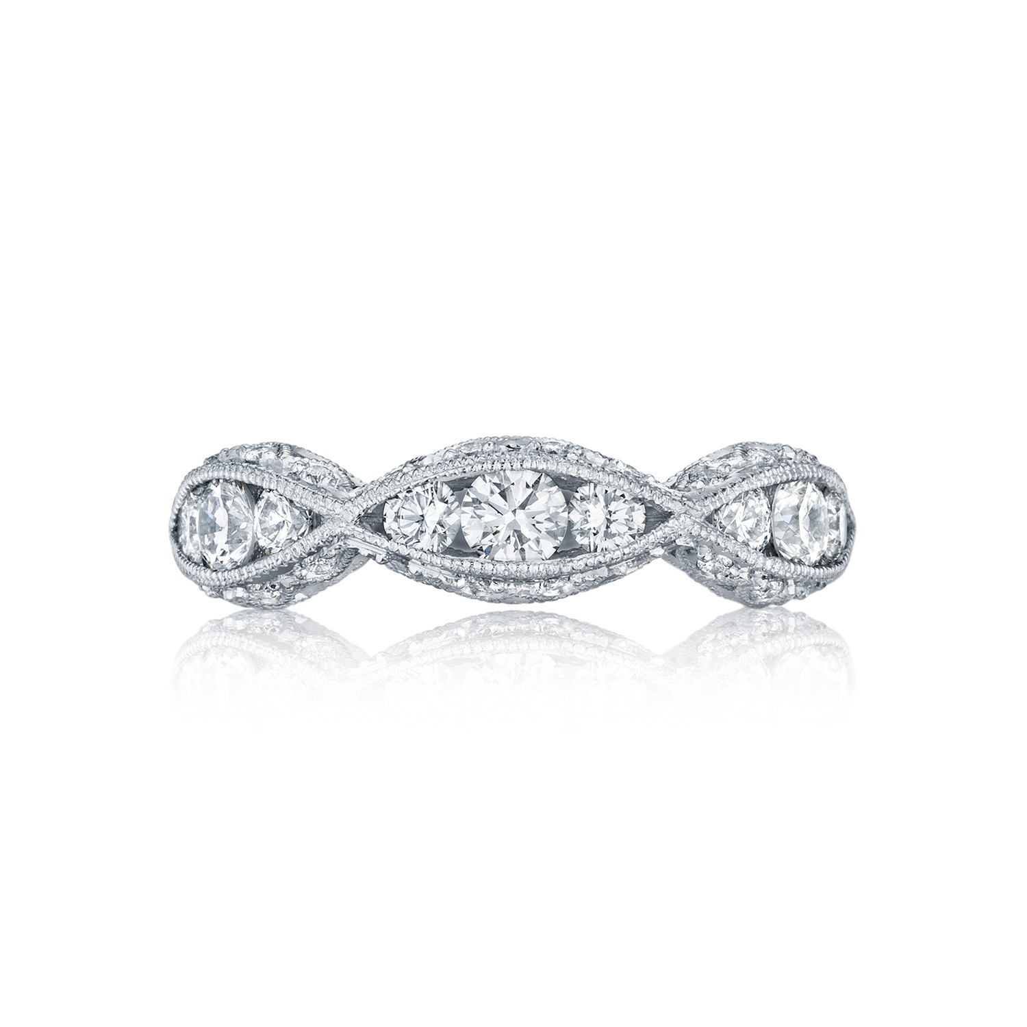 tacori classic crescent diamod twist wedding band tacori wedding band tacori wedding bands