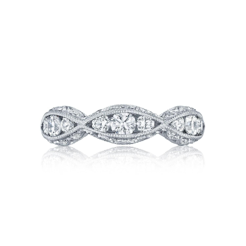 tacori wedding bands classic crescent diamond twist 0 90ctw