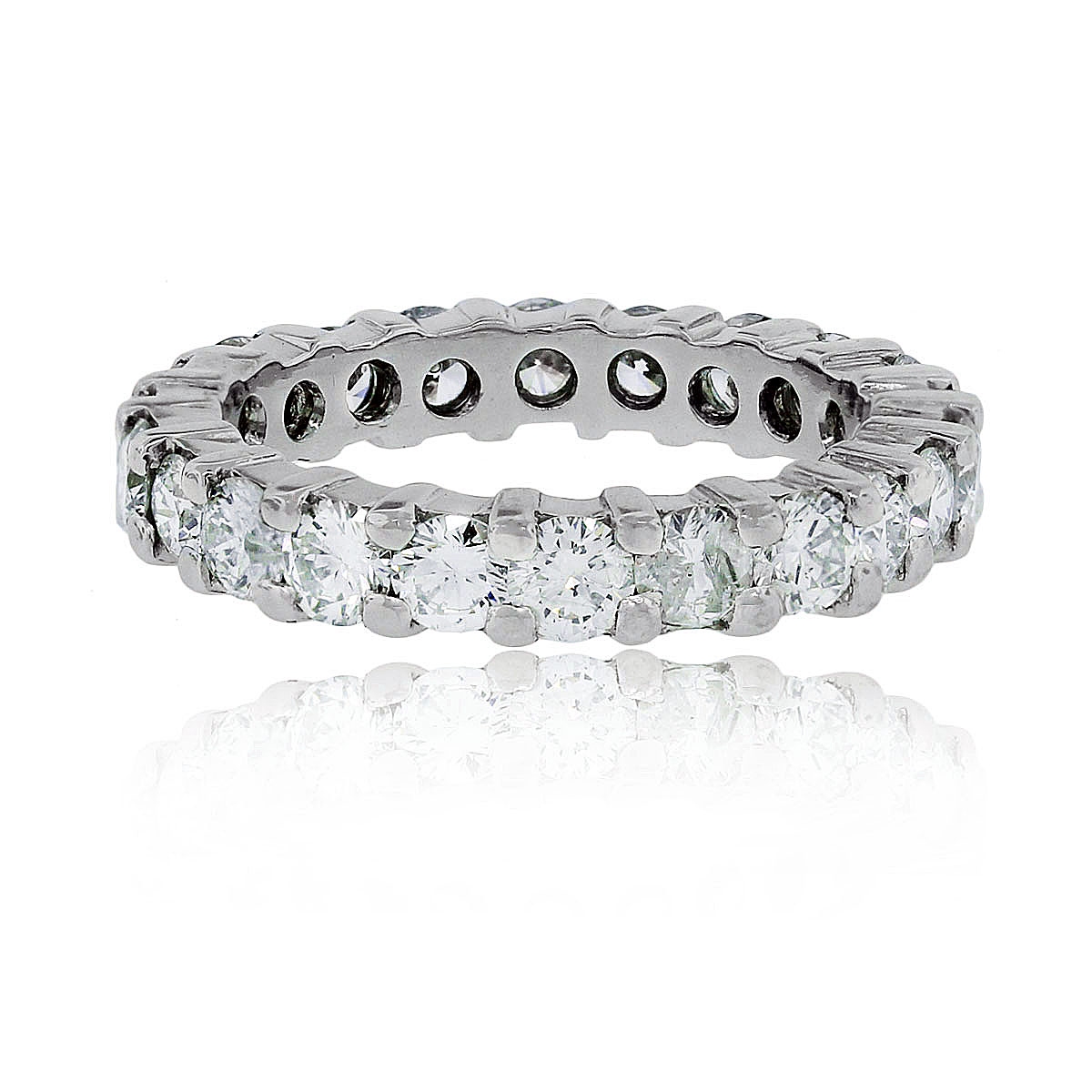 bands round platinum jewelry band eternity diamond fine