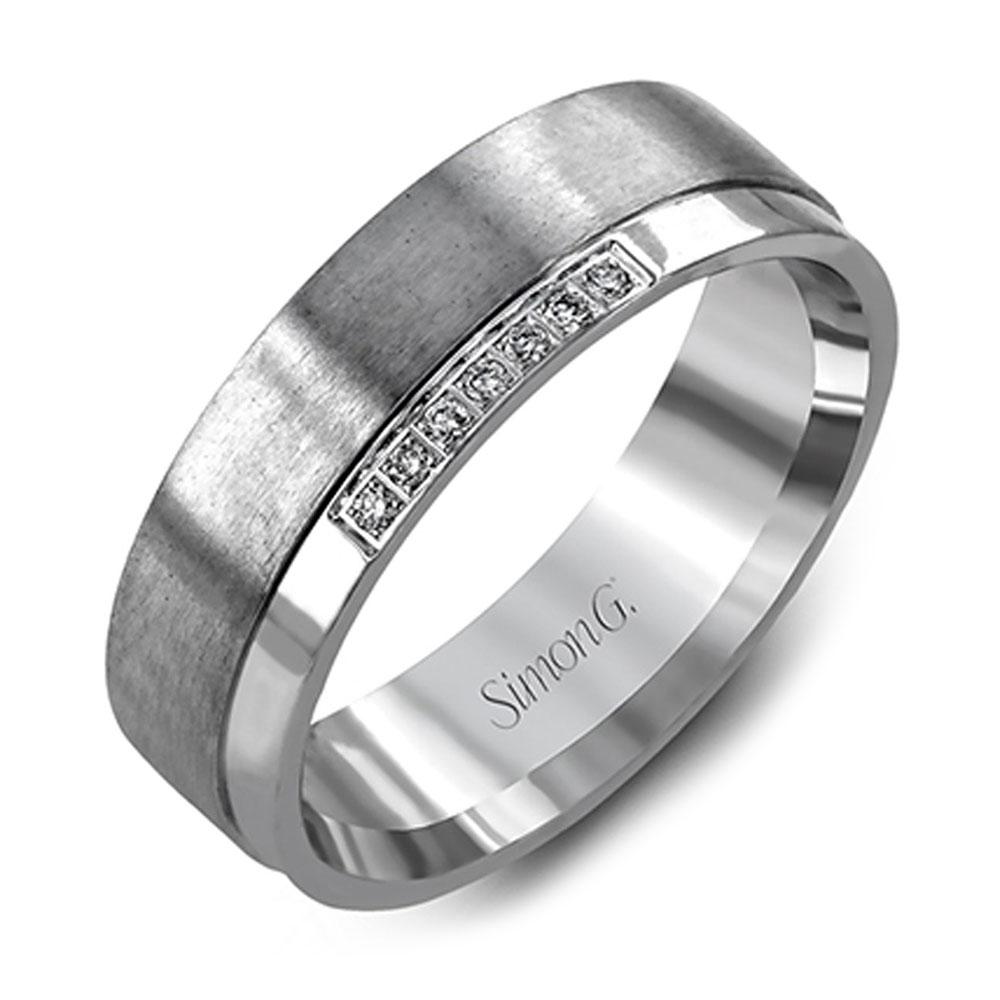 Simon G Engagement Rings Diamond Mens Wedding Band