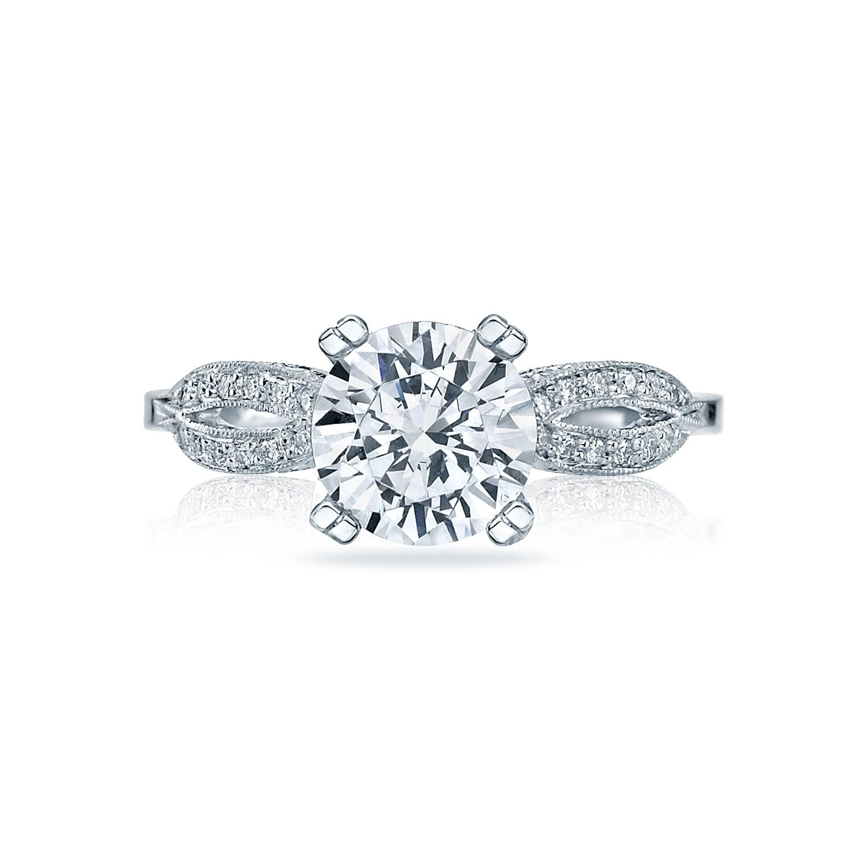 tacori engagement rings ribbon diamond solitaire setting