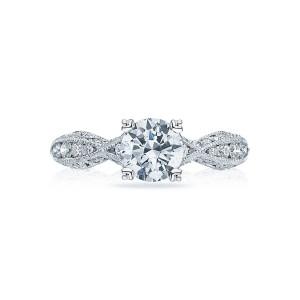 tacori classic crescent twist engagement ring setting