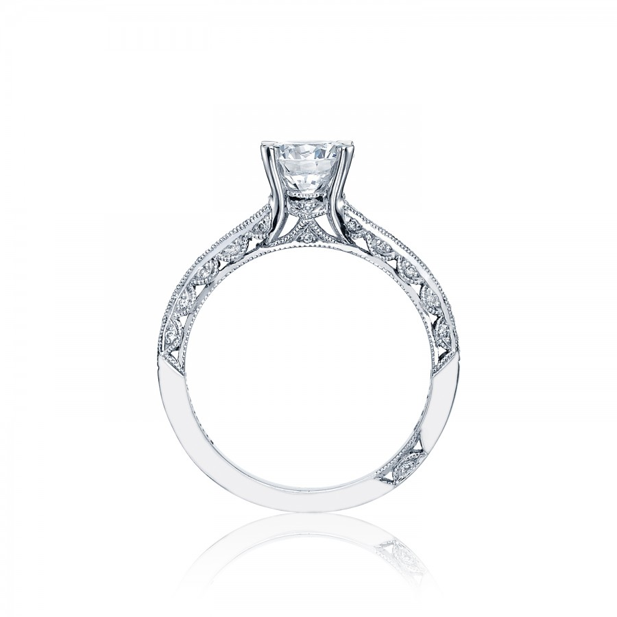 Tacori engagement rings solitaire crescent setting for Wedding ring tacori