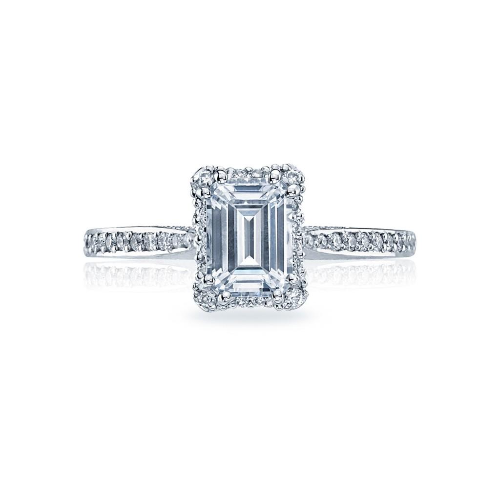 Tacori Engagement Rings Dantela Emerald Cut Setting