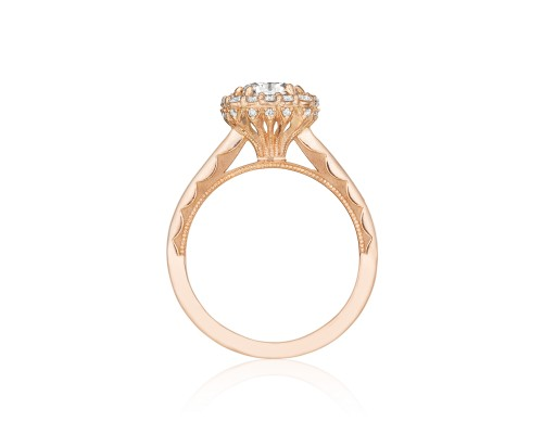 Tacori Engagement Rings Pretty in Pink Rose Gold Engagement Ring