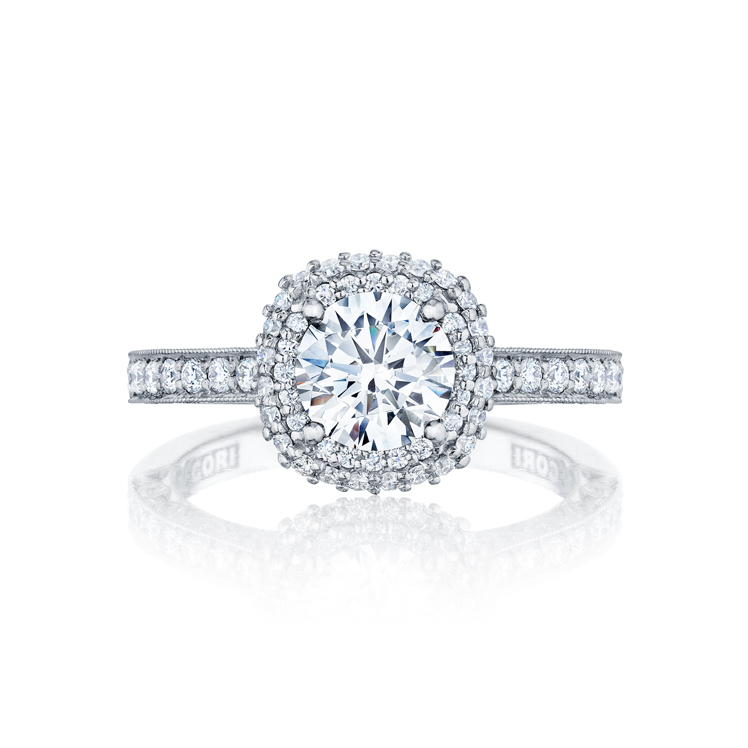 Wedding Rings Tacori Tacori Engagement Rings Blooming Beauties Halo Setting 061ctw