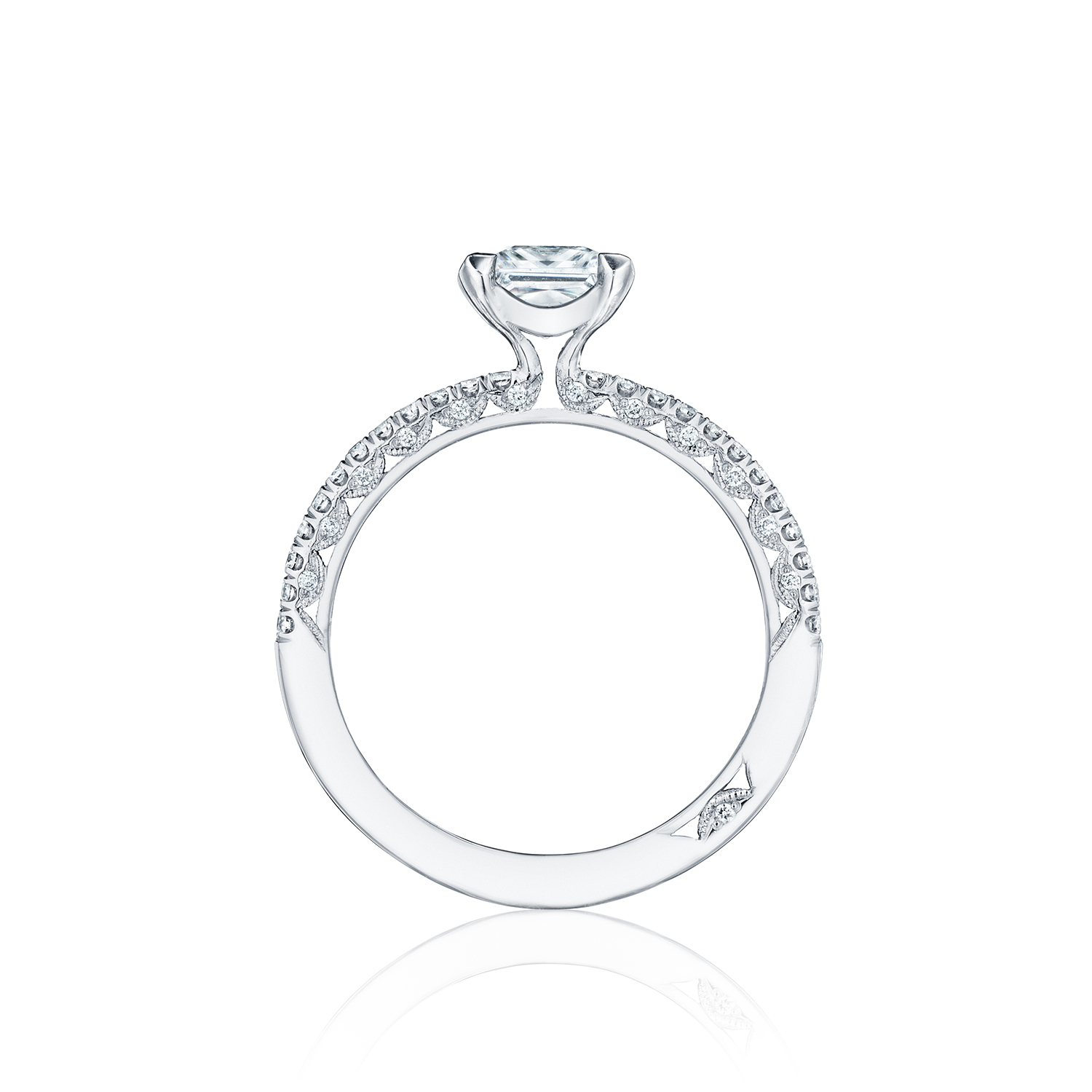 Tacori engagement rings diamond solitaire setting 023ctw for Wedding rings tacori