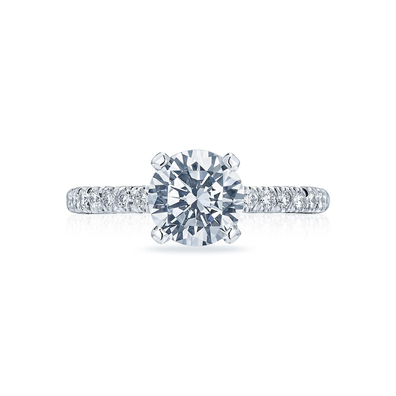 Tacori Petite Crescent HT2545RD7W Diamond Solitaire Engagement Ring
