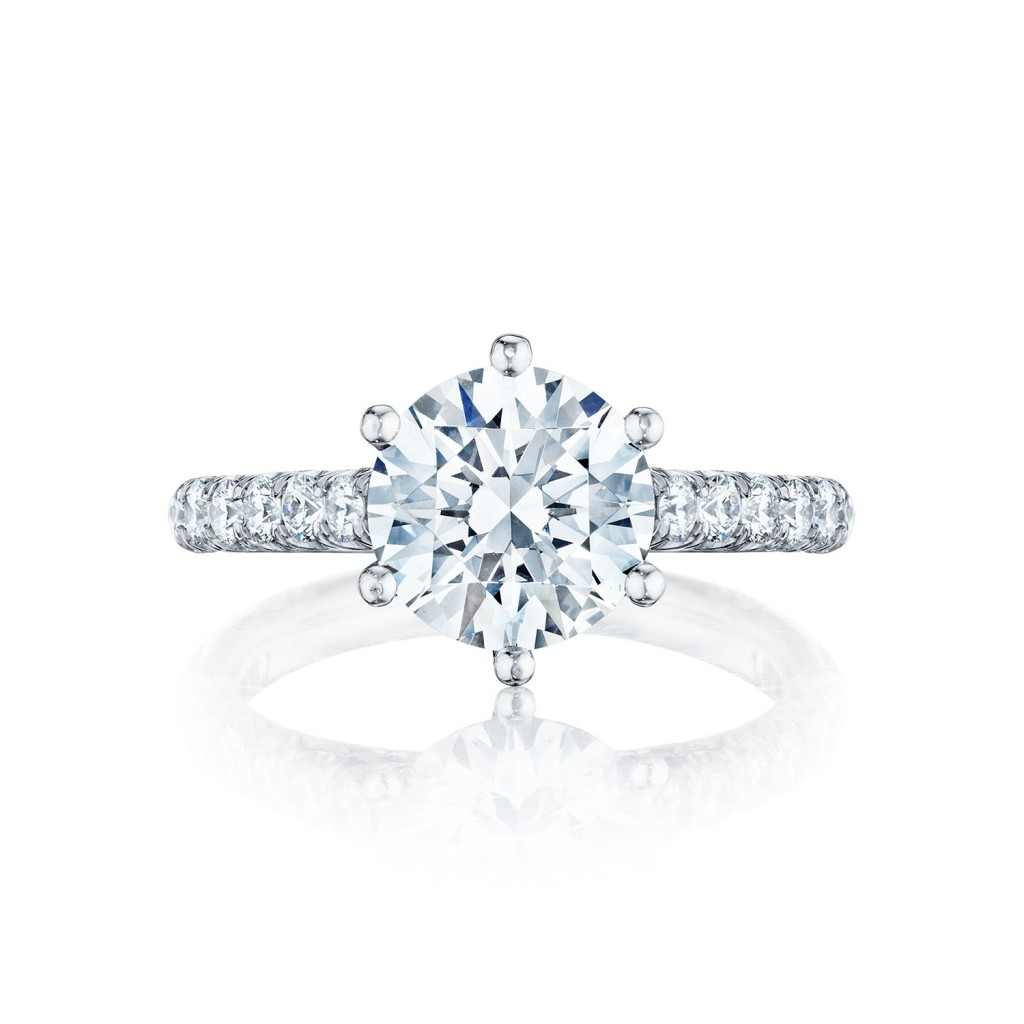 Tacori engagement rings petite crescent solitaire 67ctw for Wedding rings tacori
