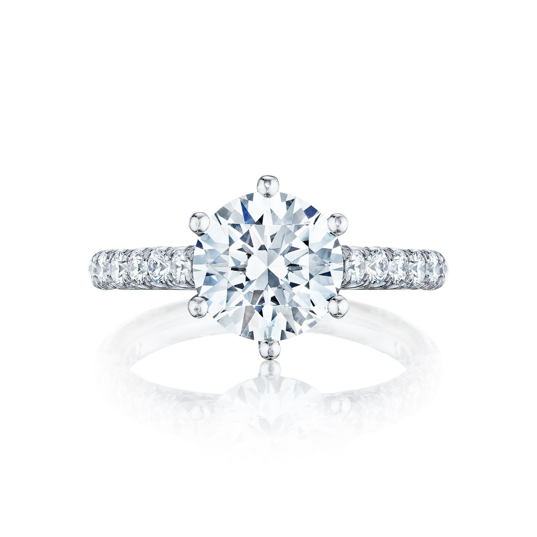 tacori engagement rings petite crescent solitaire 67ctw