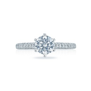 tacori petite crescent collection 6 prong engagement ring