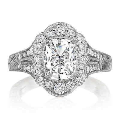 Henri Daussi Engagement Ring