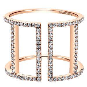 Gabriel & Co 14k Pink Gold Diamond Ring